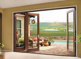 one of the popular patio door model is the folding patio doors that is not only has attractive look but also good functionality