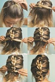the knot hawk or a knotted french braid hight five for a messy updo