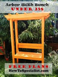 how to build an arbor with bench