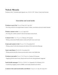 resume copywriter radio copywriter resume nichole m da resume radio copywriter resume