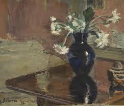 Blue vase with <b>white flowers</b>   Kramskoy
