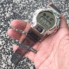 Casio G-Shock DW-6900SK-1 in customised silver metal bezel , METAL G-Shock , dw6900 , dw6900sk1 , CASIO, Men's Fashion, Watches on Carousell