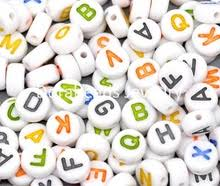 Lovely Jewelry 500Pcs Mixed Alphabet Letter Flat Round Acrylic Spacer Beads 7mm B 220x220