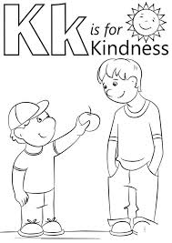 Kindness Coloring Pages Free Pictures 82 Get Coloring Page