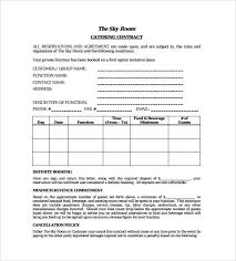 Example Of Catering Contract Standard Catering Contract Pdf Template Free Download In
