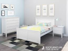 Solid Timber Bedroom Suites Dandenong Bedroom Suites Double White B2c Furniture
