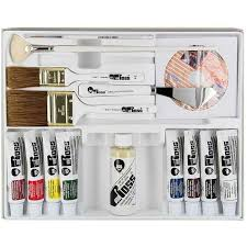 bob ross painting rural america oil color set