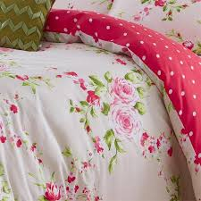 catherine lansfield home canterbury fl duvet cover set red double