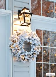 french outdoor lighting. outdoorlightingflockedwreathfrenchdoors2 french outdoor lighting