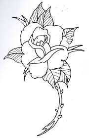 Rose Outline 4 By Vikingtattoo On