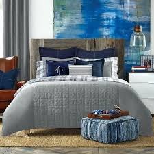 tommy hilfiger comforter bedding plaid twin set grey stripe full