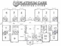 Second Floor Plan With 18 Units For Assisted Living Assisted Living Floor Plan