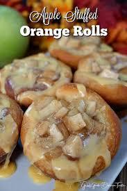 apple stuffed orange rolls great grub