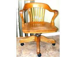Oak Desk Chair Vintage Office Chairs Sydney Antique  Solid H Swivel   Wooden For Sale P90