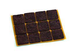 <b>подкладка фетр</b> 20х20мм <b>12шт</b> коричневый | www.gt-a.ru