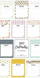 Fun and colorful free 2017 calendar that you can print at home. So many of