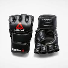 <b>Reebok Перчатки</b> Combat Leather <b>MMA</b> - размер S - черный ...
