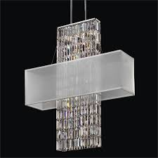rectangular shade chandelier rectangular crystal chandelier reflections