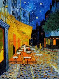 café terrace at night by van gogh le centenaire de l indépen by henri rousseau