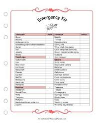 Blank Wedding Planning Checklist Keep The Bride Prepared And Calm With The Wedding Planner Emergency