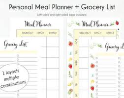 personal diet planner christmas planner menu planner gift planner box inventory