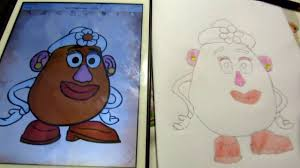how to draw toy story mrs potato head for kids