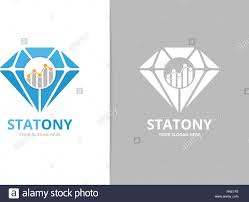 Vector Diamond And Graph Logo Combination Jewelry And