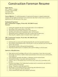 Construction Superintendent Resume Sample Resume For Study
