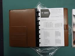 M By Staples Arc Customizable Brown Leather Notebook System 9x7 Pgs