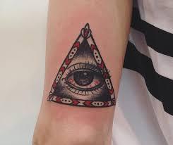 фото фото красной татуировки всевидящего ока на руке парня