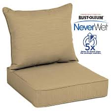 allen roth neverwet 2 piece wheat deep seat patio chair cushion