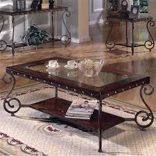 Superior Rectangular Coffee Table With Metal Studs | Nebraska Furniture Mart Amazing Design