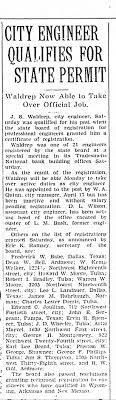 Robert Ivan Bradley registered by state board as engineer. He was a  petroleum engineer in Tulsa. - Newspapers.com