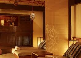 relaxing warm toned bed space at shibui spa