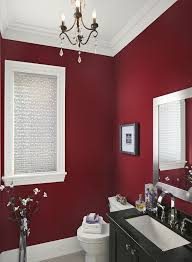 ... red accent wall design in bedroom ...