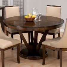 Interior Awesome Small Dining Room Design With Dark Brown Round - Walnut dining room furniture