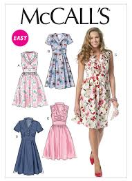 Mc Calls Patterns Simple M48 Misses' ALine Dresses Sewing Pattern McCall's Patterns