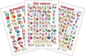 Spectrum Set Of 3 Educational Wall Charts English Alphabets