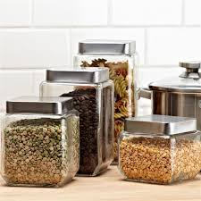glass canister sets for kitchen