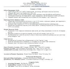 Qualifications Summary Resume Example Assistant Qualifications Amazing Qualification Summary Resume