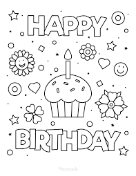 Happy birthday coloring pages will let the celebrant and the guests color together and have fun with each other while finishing their works of art. 55 Best Happy Birthday Coloring Pages Free Printable Pdfs