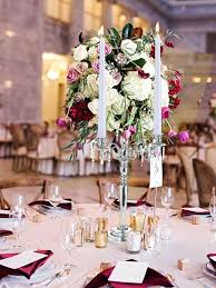 tall candle holders wedding centerpieces tall silver 4 arm shiny