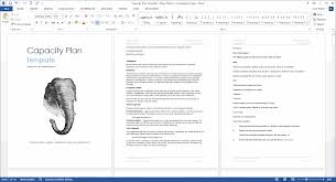 capacity plan template microsoft word and excel templates capacity plan template ms word