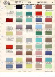 Viewing A Thread 1959 And 1960 Paint Chart Chrysler