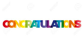 word of congratulations the word congratulations vector banner with the text colored
