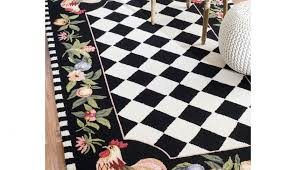 country and checd matching washable kitchen runner slip rugs comfort rooster backed w cott carpet kohls