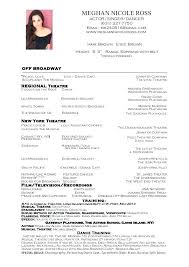 Dance Resume Template Cool Performer Resume Example And Cover Letter Theatre Performance