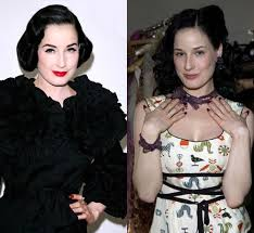 ever wondered how dita von teese looks without