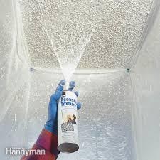 repair sprayed ceilings with aerosol spray texture patch