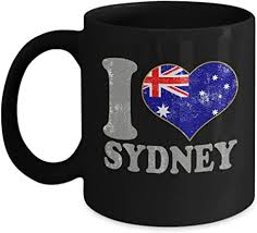 Promotional mugs are ideal advertising tools for cafes and other businesses in the hospitality industry. Amazon Com Sydney Australia Coffee Mug 11oz Black Ceramic Tea Cup Country Flag Pride Novelty Holiday Christmas Gift Kitchen Dining